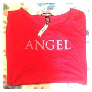 Lounge glitter Graphic Shirt Ángel size S